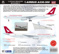 1/144 Scale DecalCathay Dragon A-330
