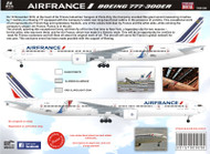 1/144 Scale Decal Air France 777-300 Jon One