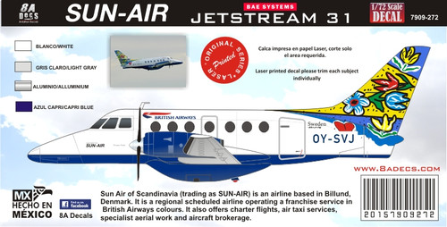 1/72 Scale Decal British Airways BAE JETSTREAM