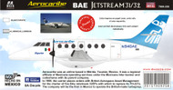 1/72 Scale Decal AEROCARIBE BAE JETSTREAM