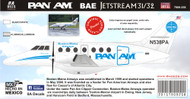 1/144 Scale Decal BAE JETSTREAM PAN AM