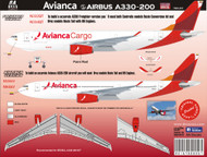1/144 Scale Decal AVIANCA 205 Airbus A330-200/F