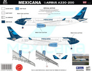 1/144 Scale Decal Mexicana A330-200 2009