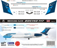 1/144 Scale Decal Mexicana Click B-717