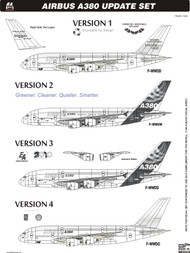 1/144 Scale Decal A-380 Update Set