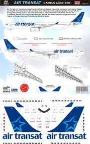 1/144 Scale Decal Air Transat A330-300