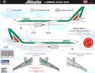 1/144 Scale Decal Alitalia A330-300