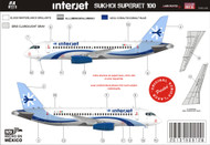 1/144 Scale Decal Interjet Sukhoi 100