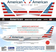 1/144 Scale Decal American 737-800