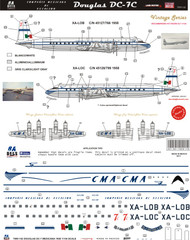 1/144 Scale Decal CMA DC-7