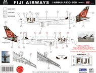 1/144 Scale Decal Fiji A330-200