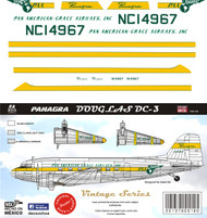 1/144 Scale 1/72 Scale Decal Panagra DC-3