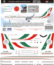 1/144 Scale Decal Fuerza Aerea Mexicana 757-200 TP01 2013