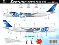 1/144 Scale Decal Egypt Air A-330