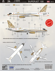 1/144 Scale Decal Sukhoi Super Jet 100 75th Aniversary
