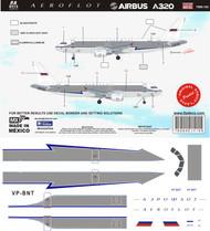1/144 Scale Decal Aeroflot A-320 Retro