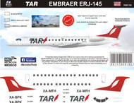 1/144 Scale Decal TAR ERJ-145