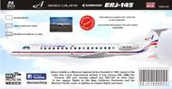 1/144 Scale Decal Aereo Calafia ERJ-145