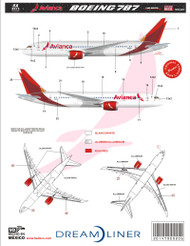 1/144 Scale Decal Avianca 787 2015