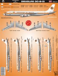 1/144 Scale Decal Aeronaves de Mexico DC8-53
