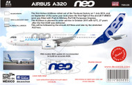 1/144 Scale Decal A-320 NEO Test Plane