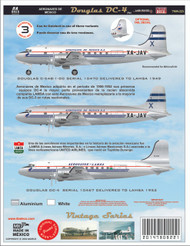 1/144 Scale Decal Aeronaves Lamsa DC-4