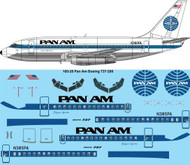 1/100 Scale Decal Pan Am 737-200