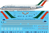 1/144 Scale Decal Alitalia Delivery DC-9-32