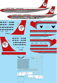 1/172 Scale Decal Dan Air London 707-321/321C