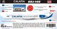 1/144 Scale Decal Calafia Airlines ERJ-145
