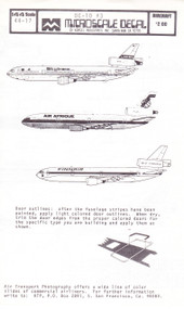 1/144 Scale Decal Laker / Air Afrique / Finnair DC-10