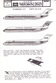1/144 Scale Decal North Central / JAT / Garuda DC9-30