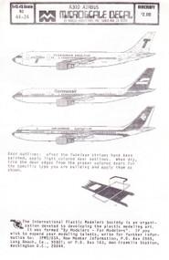 1/144 Scale Decal Transavia Holland / Germanair / Air Algerie A-300