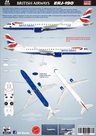 1/144 Scale Decal British Airways ERJ-190