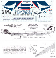 1/144 Scale Decal Cathay Pacific 777-200