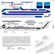 1/144 Scale Decal Eastern DC9-14 / 30 Bicentennial