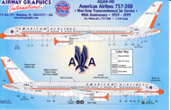 1/144 Scale Decal American Airlines 757-200 40th Anniversary