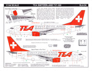 1/144 Scale Decal TEA of Switzerland 737-300