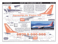 1/144 Scale Decal easyJet 737-300 No Agencies