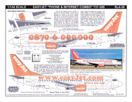 1/144 Scale Decal easyJet.com 737-300 Phone & Internet Combo