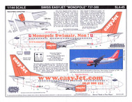 1/144 Scale Decal easyJet.com 737-300 Monopole