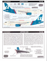 1/144 ScaleDecal AirTran A-320