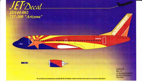 1/144 Scale Decal Southwest 737-300 Arizona