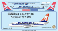1/200 Scale Decal Aeromar 737-200