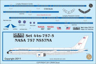 1/144 Scale Decal NASA 757-200