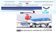 1/144 Scale Decal Northwest / KLM DC-10 Hybrid
