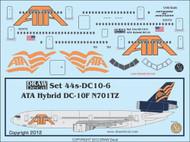 1/144 Scale Decal ATA - American Trans Air DC-10 Hybrid