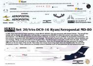 1/144 Scale Decal Ryan International / Aeropostal MD-80