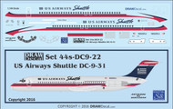 1/144 Scale Decal US Aiways Shuttle DC9-30
