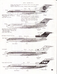 1/200 Scale Decal Continental / Northeast / Northwest / Icelandair / TWA 727